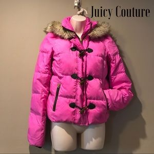 Juicy Courure Pink Down Puffer Jacket, Size S
